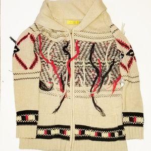 DEE ELLE Oversized western fringe sweater